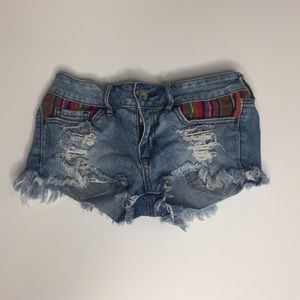 Mexican Style Blue Jean Shorts